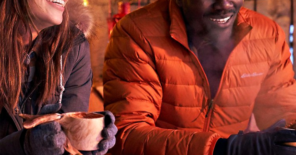 Eddie Bauer Jackets on man and woman