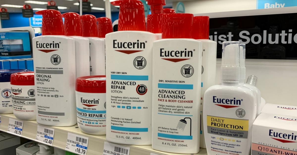 Eucerin products on shelf