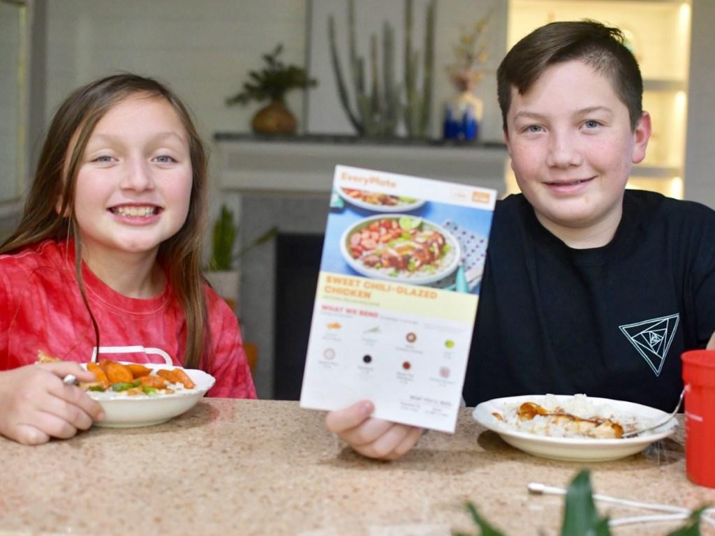 kids enjoying everyplate meal