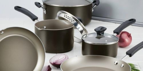 Farberware 15-Piece Cookware Set Only $28.99 Shipped After Rebate for Kohl's Cardholders (Regularly $120)