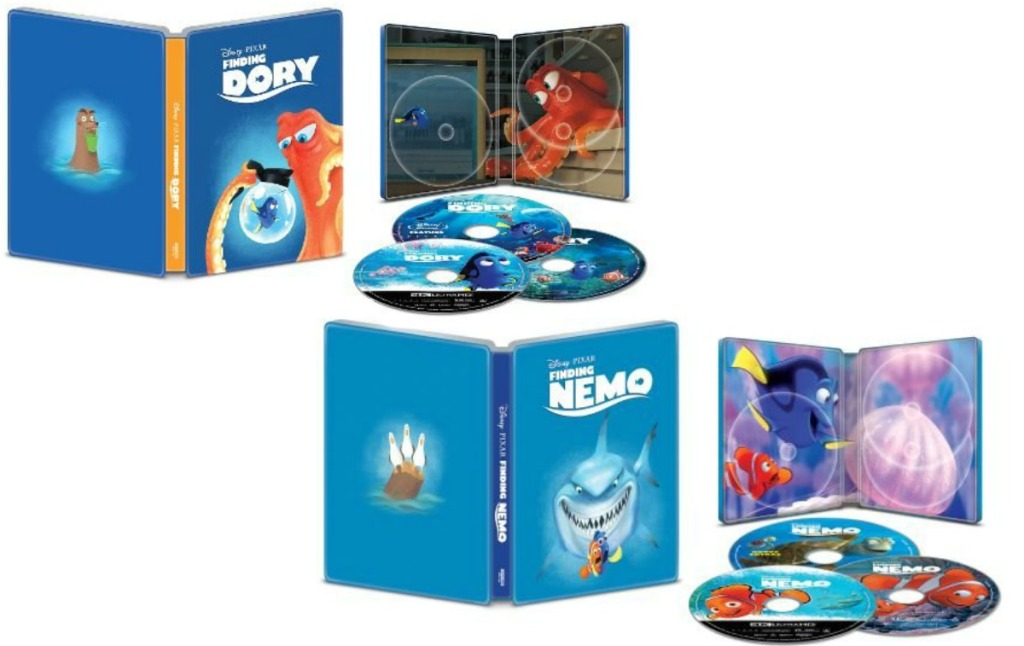 a variety of Disney collectible steelbooks