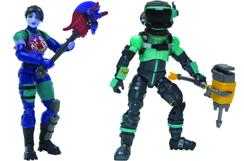 dark bomber and toxic trooper figures