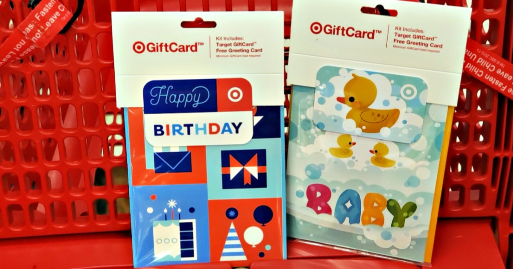Free Greeting Cards with Target Gift Card Purchase in Target shopping cart