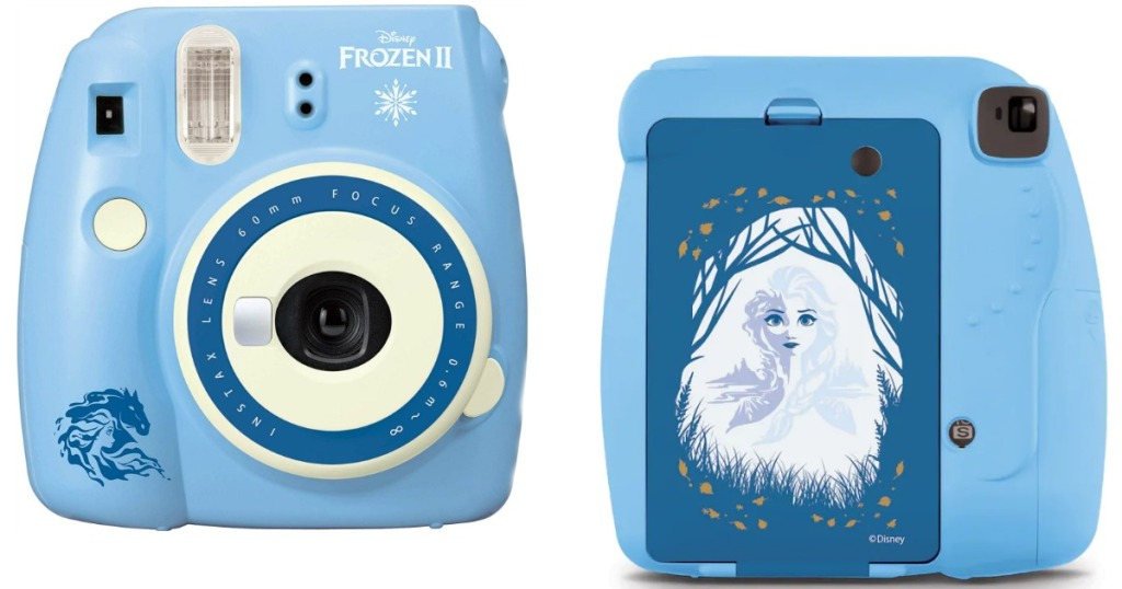 front and back view of Fujifilm Instax Mini 9 Frozen 2 Instant Camera