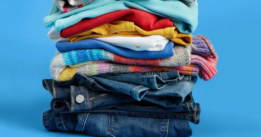 Gap Jeans in stack with sweaters