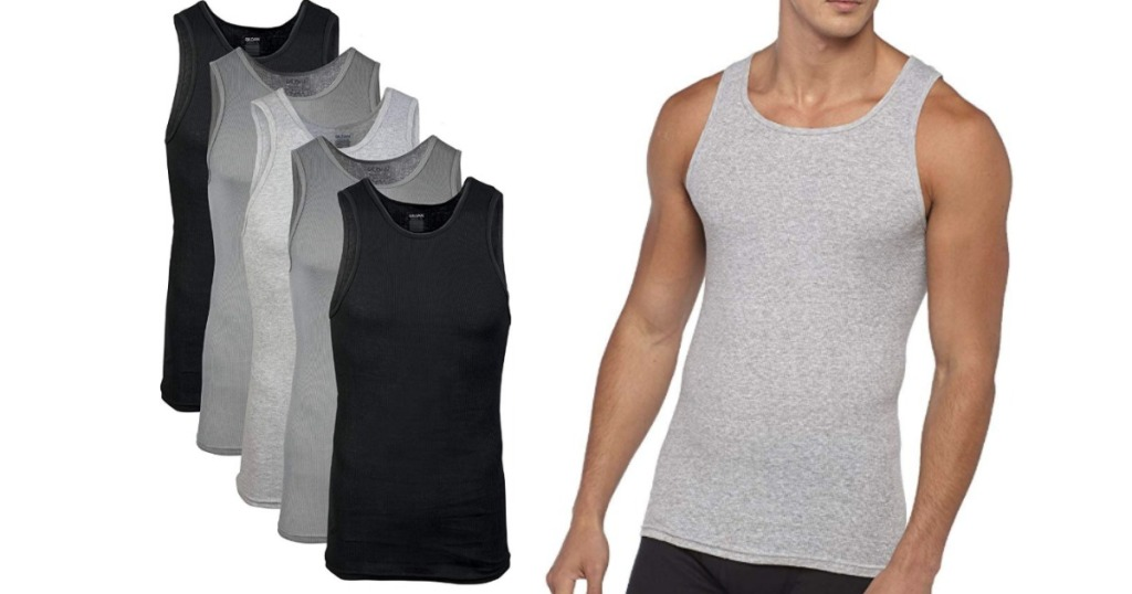 Gildan Men's Cotton Ribbed Tanktops in Assorted Colors