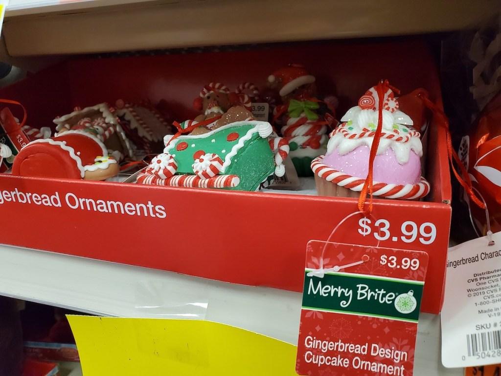 Gingerbread Design Ornaments at CVS cupcake, christmas tree