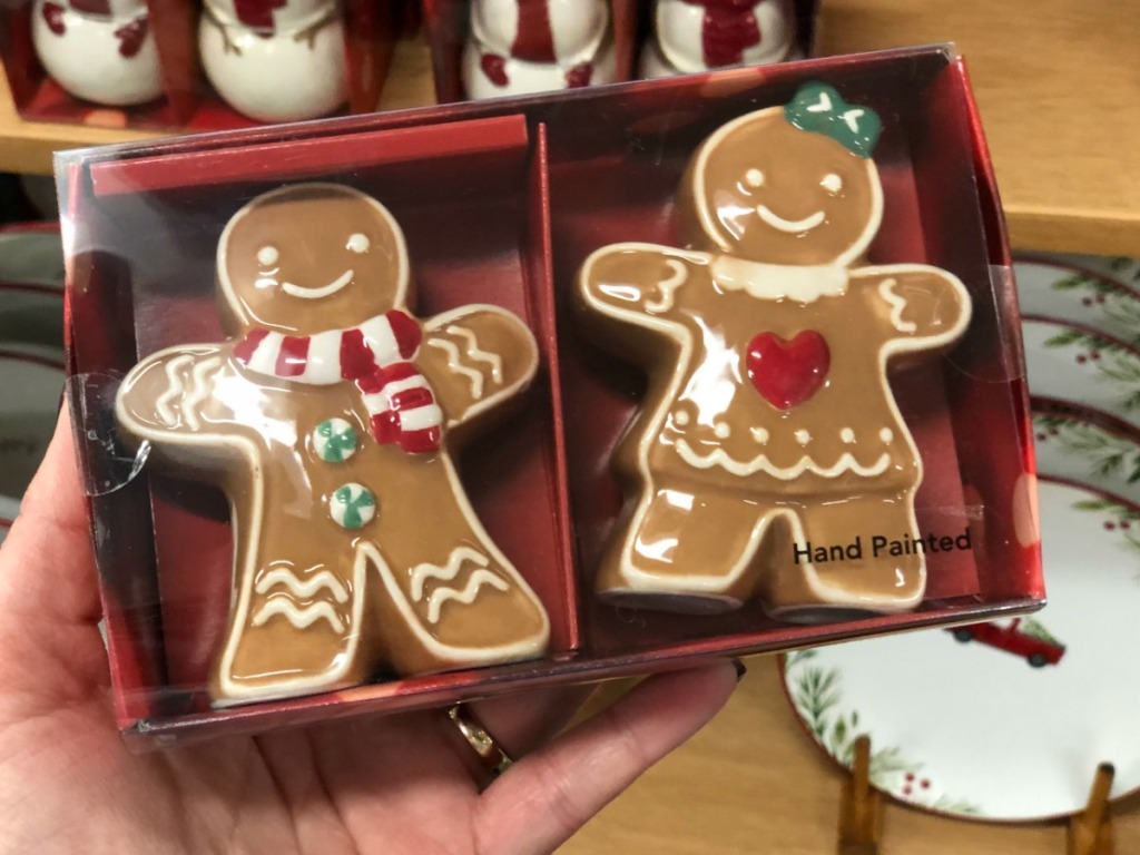 Gingerbread-themed Salt & Pepper Shakers in package at Kohl's