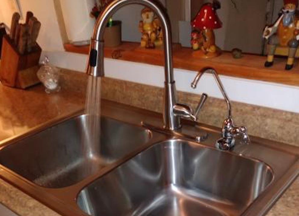 Glacier Bay Faucet in sink