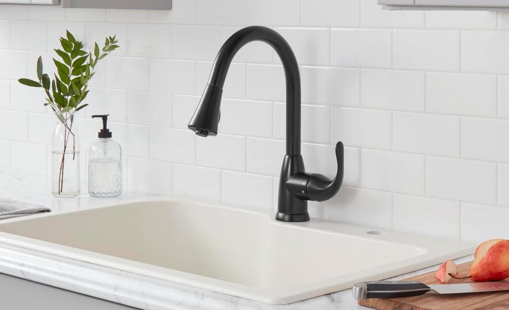 Glacier Bay Market Faucet in kitchen sink