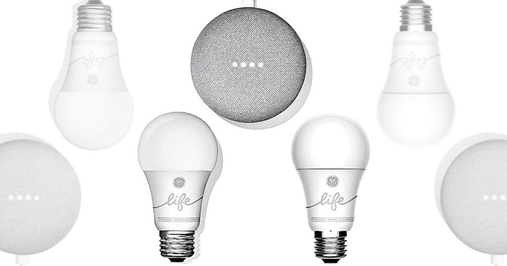 Google Smart Light Starter Kit + Additional GE C-Life Smart Bulb