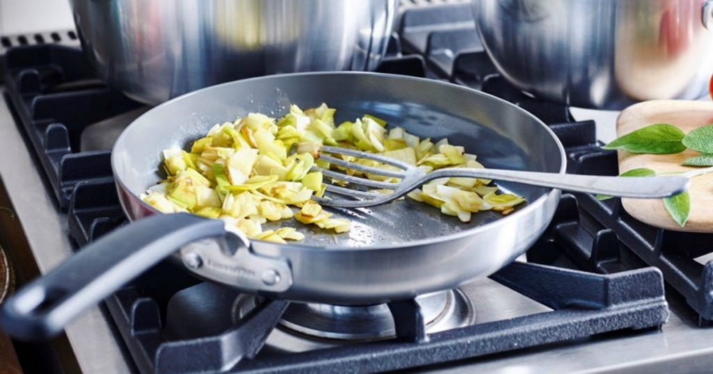 GreenPan skillet with food in it