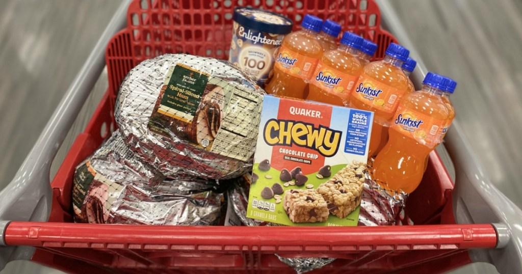Groceries in Target Cart