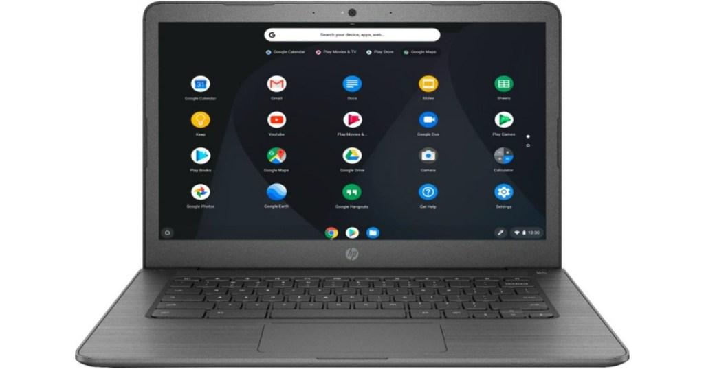 HP Chromebook on screen
