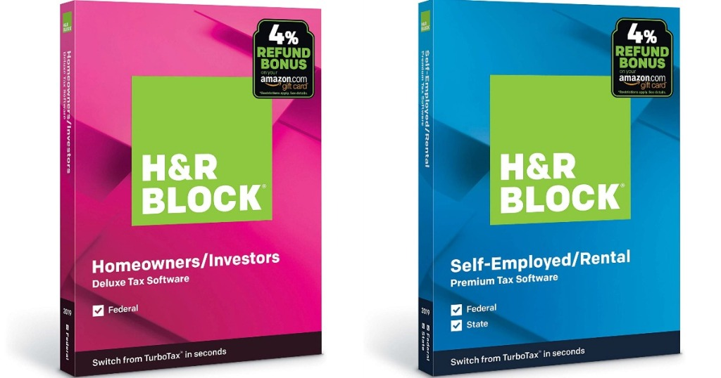 H&R Block Deluxe and Premium software