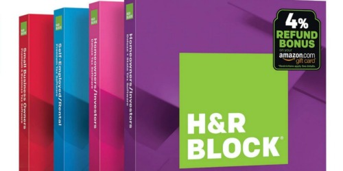 50% Off H&R Block Tax Software at Amazon