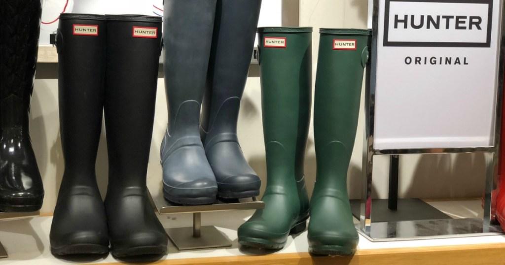 HUNTER brand women's rain boots