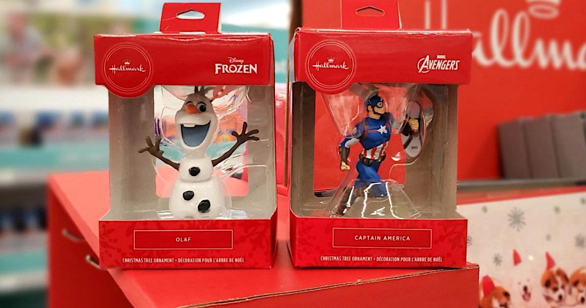 Hallmark Disney and Marvel Christmas ornaments