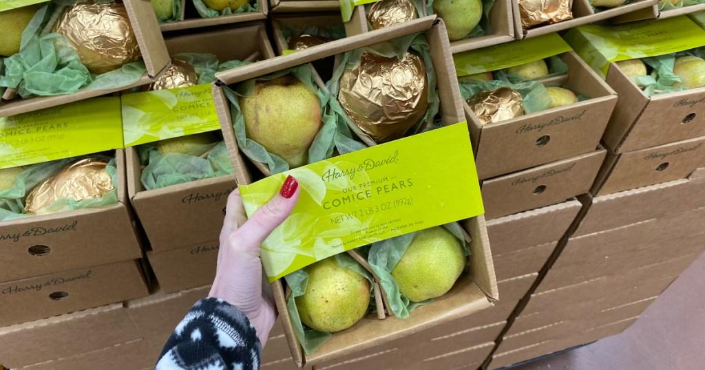 Harry & David Comice pears at Trader Joe's