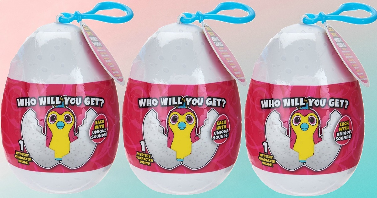 Hatchimals backpack clips in package