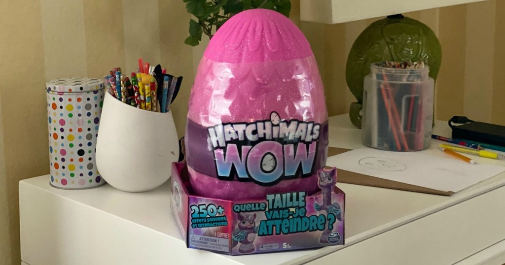 Hatchimals Llalacorn Egg on dresser