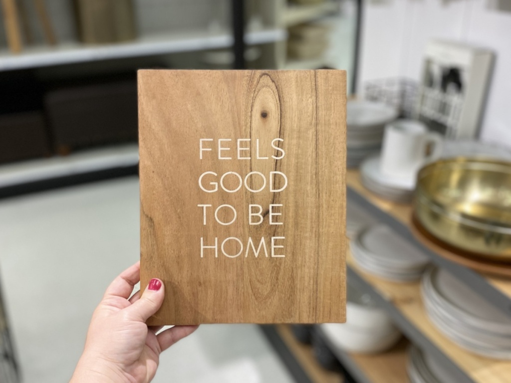 Hearth & Hand with Magnolia Feels Good To Be Home Wood Sign