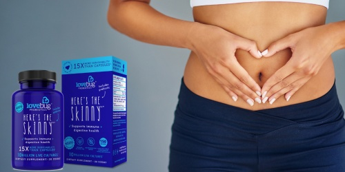Extended Cyber Monday Sale: 40% off Here's the Skinny Probiotic by LoveBug Probiotics