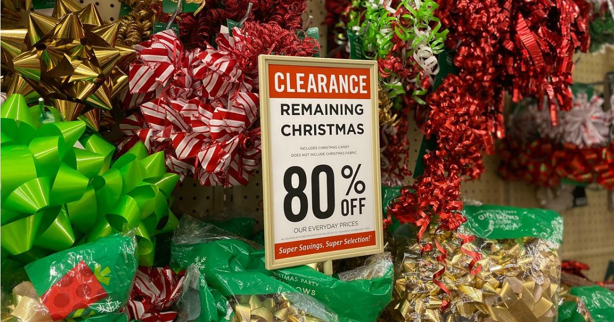 Hobby Lobby 80% off Christmas Clearance