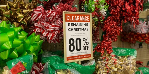 80% Off ALL Remaining Christmas Merchandise at Hobby Lobby