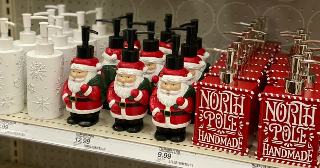 Christmas Hand Soaps on the shelf at Target