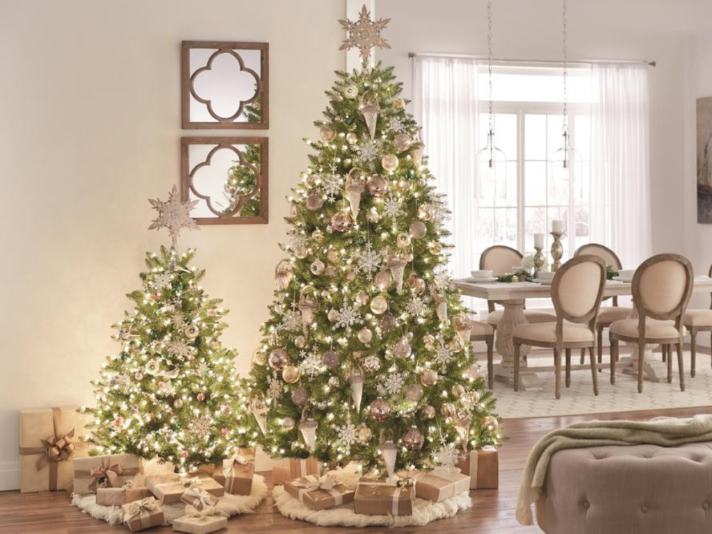 Up to f Artificial Trees & Wreaths at Home Depot