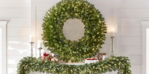 Up to 40% Off Artificial Trees & Wreaths at Home Depot + Free Shipping