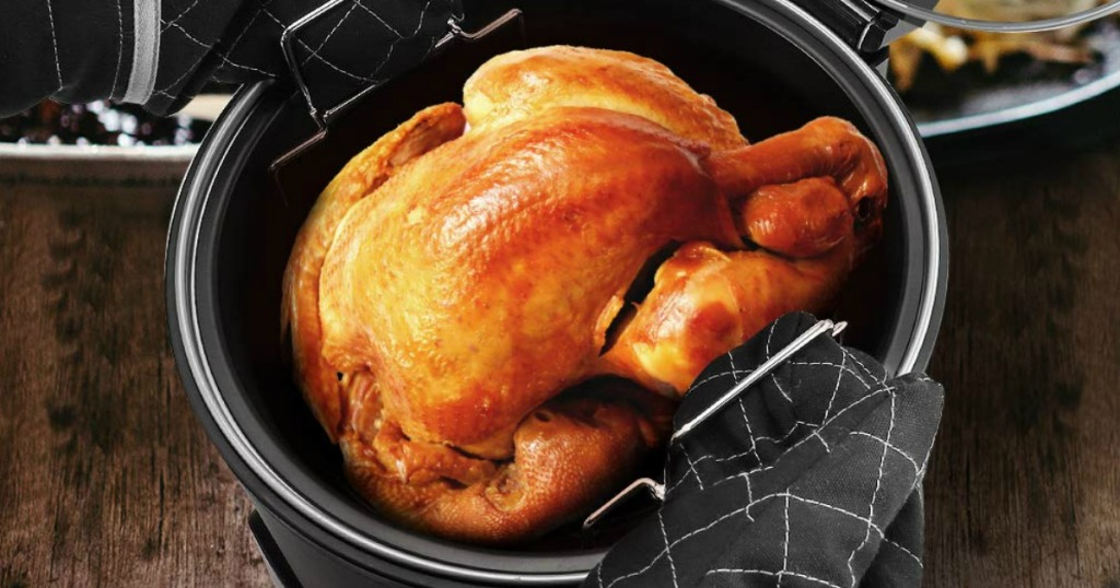 Homgeek Air Fryer with Baked Chicken
