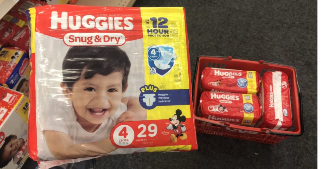 Huggies in basket