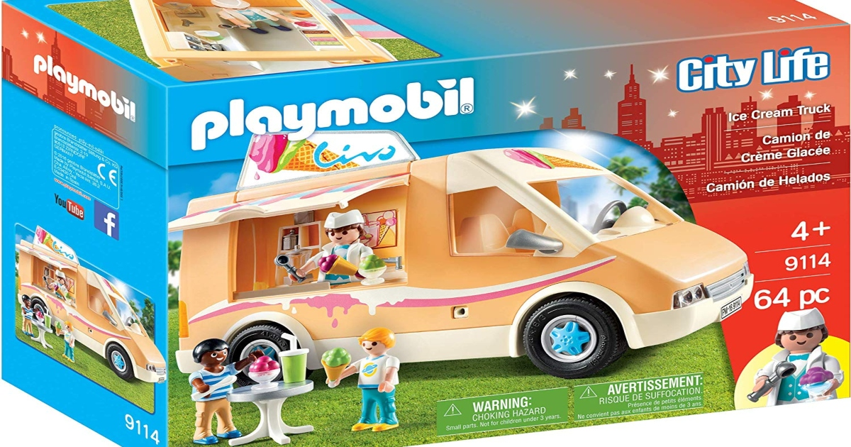 Playmobil Ice Cream Truck Box. With image on front of what the set includes