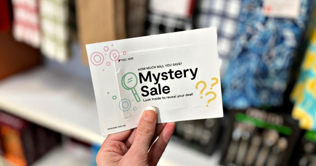 JCPenney Mystery Sale Coupon in hand