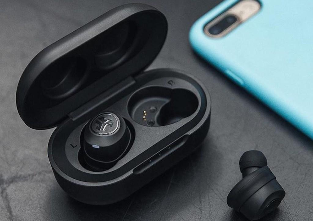 Jlab headphones near phone