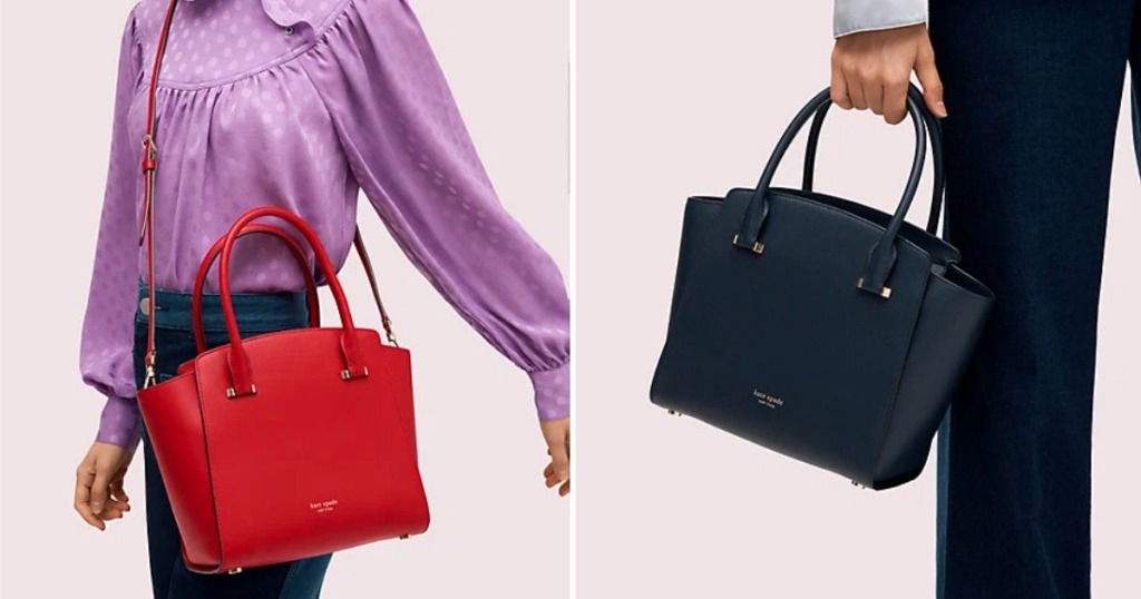 Kate Spade Sydney Satchel in red and blue