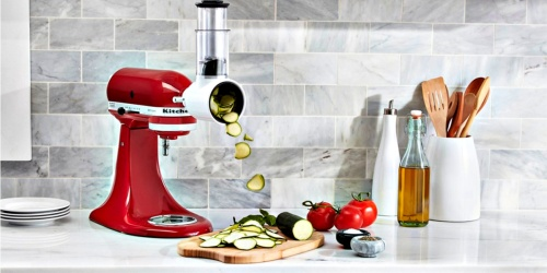 KitchenAid Artisan 5-Quart Stand Mixer w/ Slicer Attachment Only $229.99 Shipped + Get $10 Macy's Money