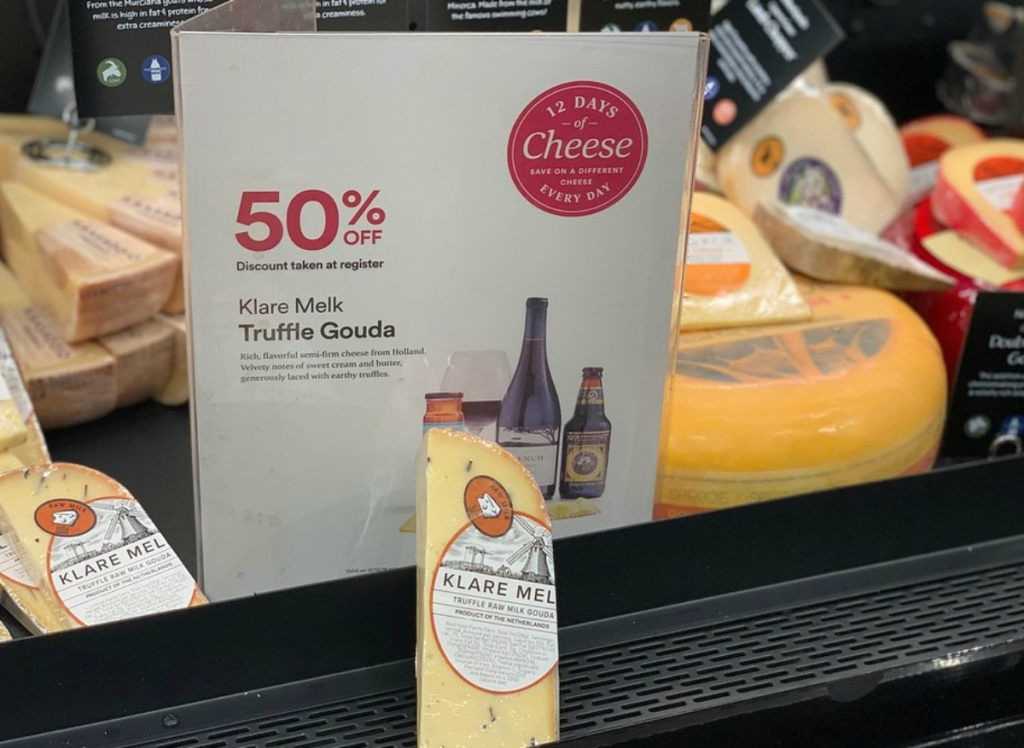 Klare Melk Truffle cheese at Whole Foods