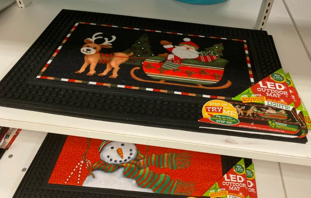 Kohl's in-store display of LED holiday doormats