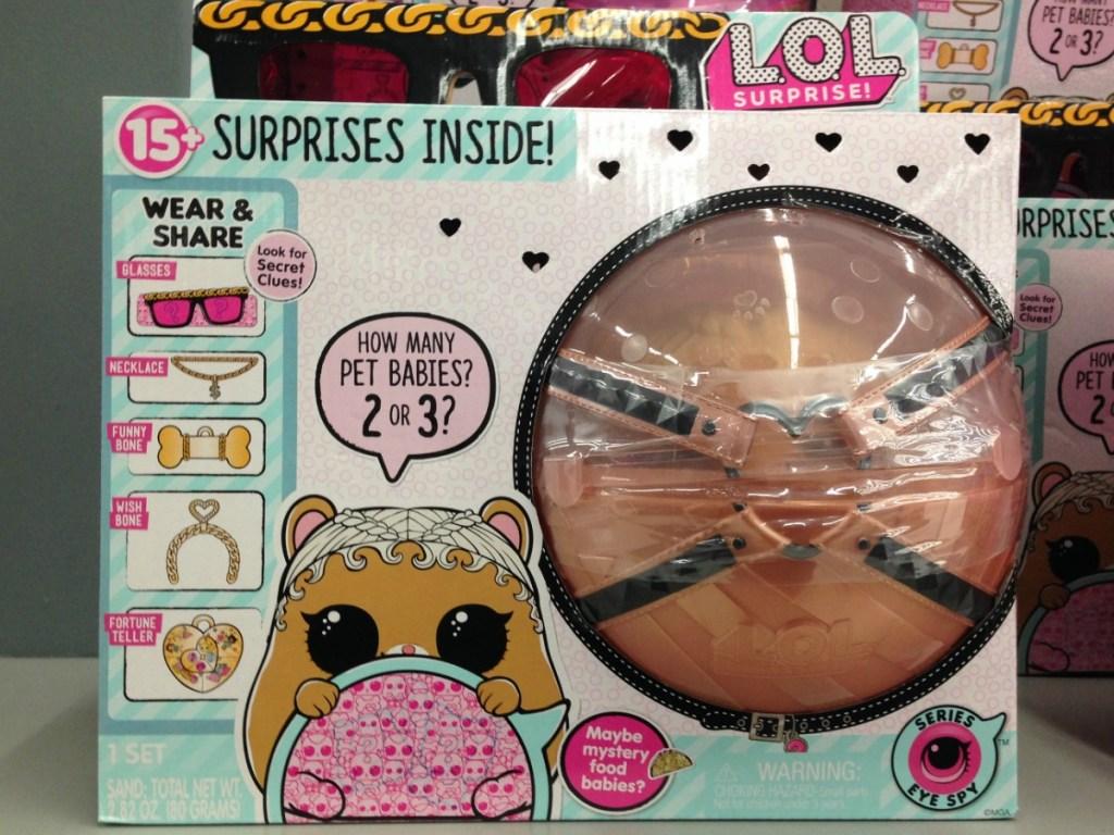 L.O.L. Surprise Biggie Pet in package on display in-store