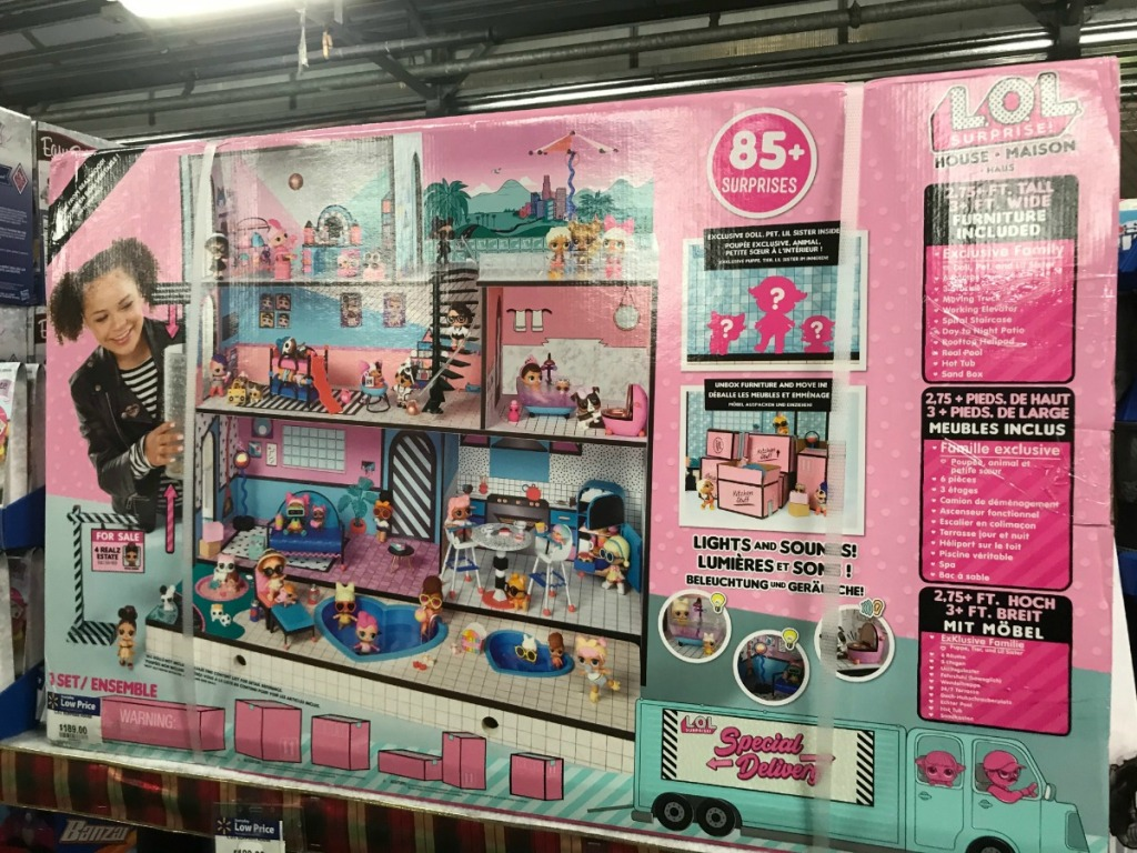 LOL Surprise Doll House in box on display at Store