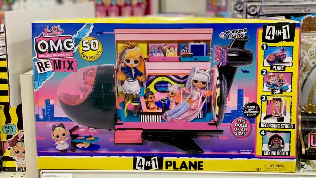 LOL plane in box on store shelf