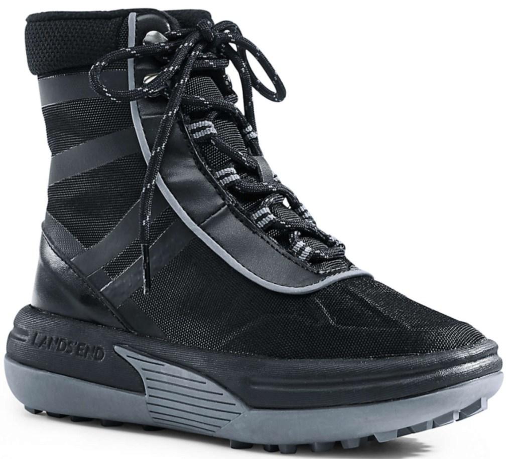 black Lands End Boys Action Boots