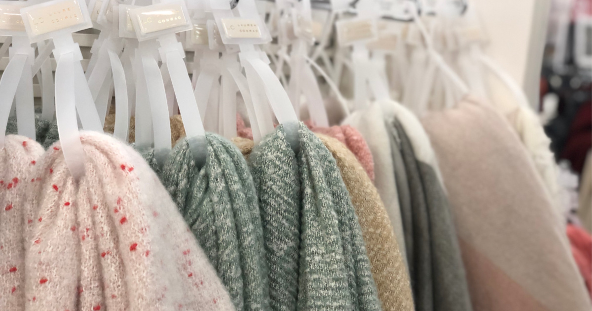 lauren conrad sweaters hanging up at store