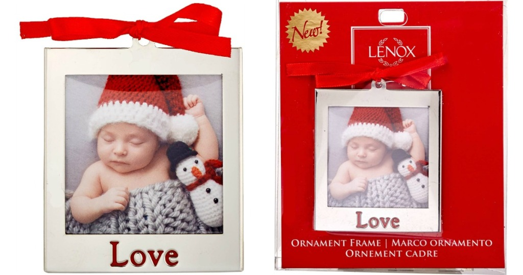 Lenox Love Christmas ornament with a picture of a baby inside