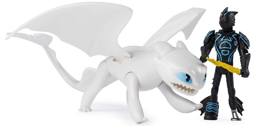 Lightfury and Hiccup toys