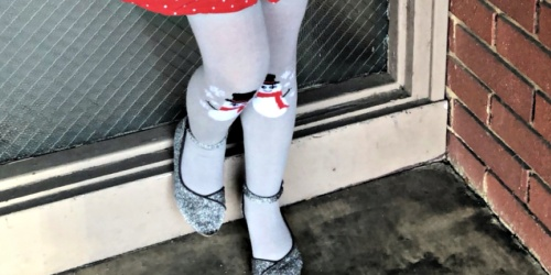 Girls Snowman Knit Tights Only $2.99 at Aldi