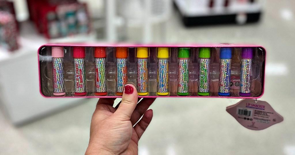 Lip Smacker 10-Piece Vault Pink Gift Set
